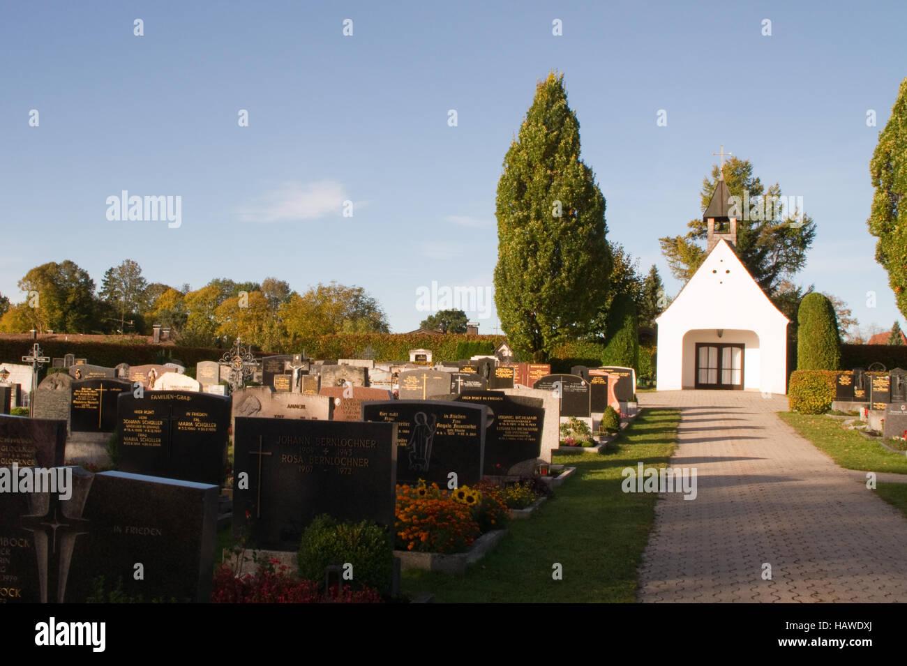 Cemetery, Bavaria, graves commemorate, pray - Stock Image