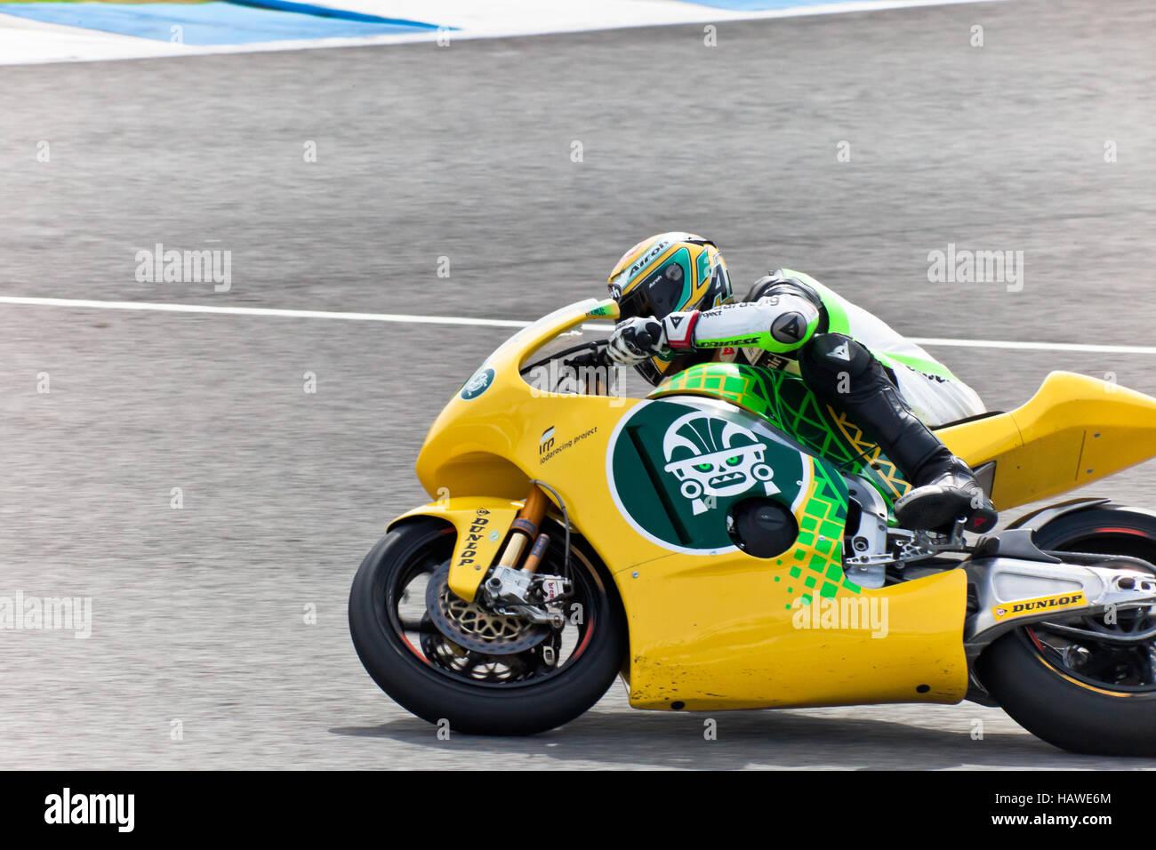 Simone Corsi pilot of Moto2  of the MotoGP - Stock Image