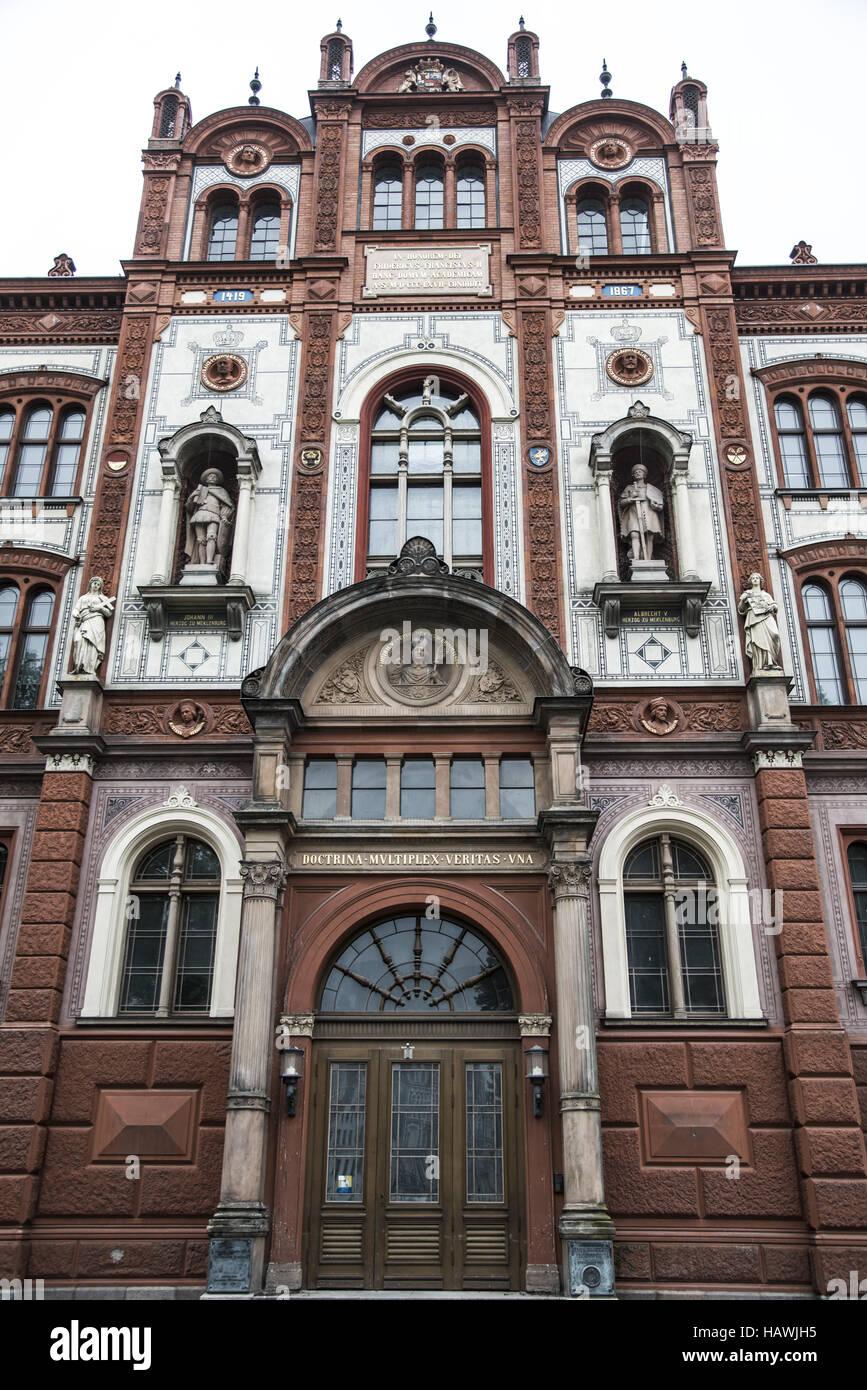 University, Rostock - Stock Image