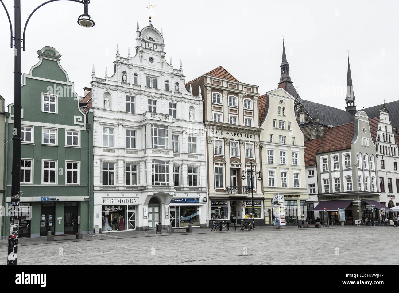 New market, Rostock Stock Photo