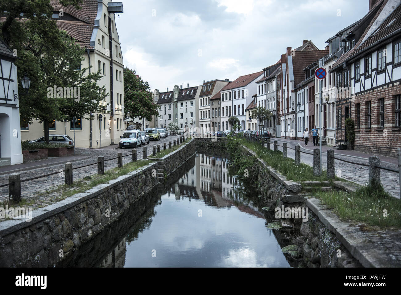 Channel, Wismar - Stock Image