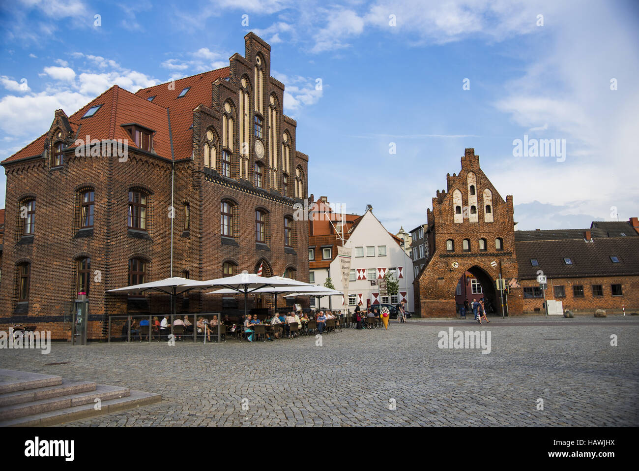 Port gate, Wismar - Stock Image