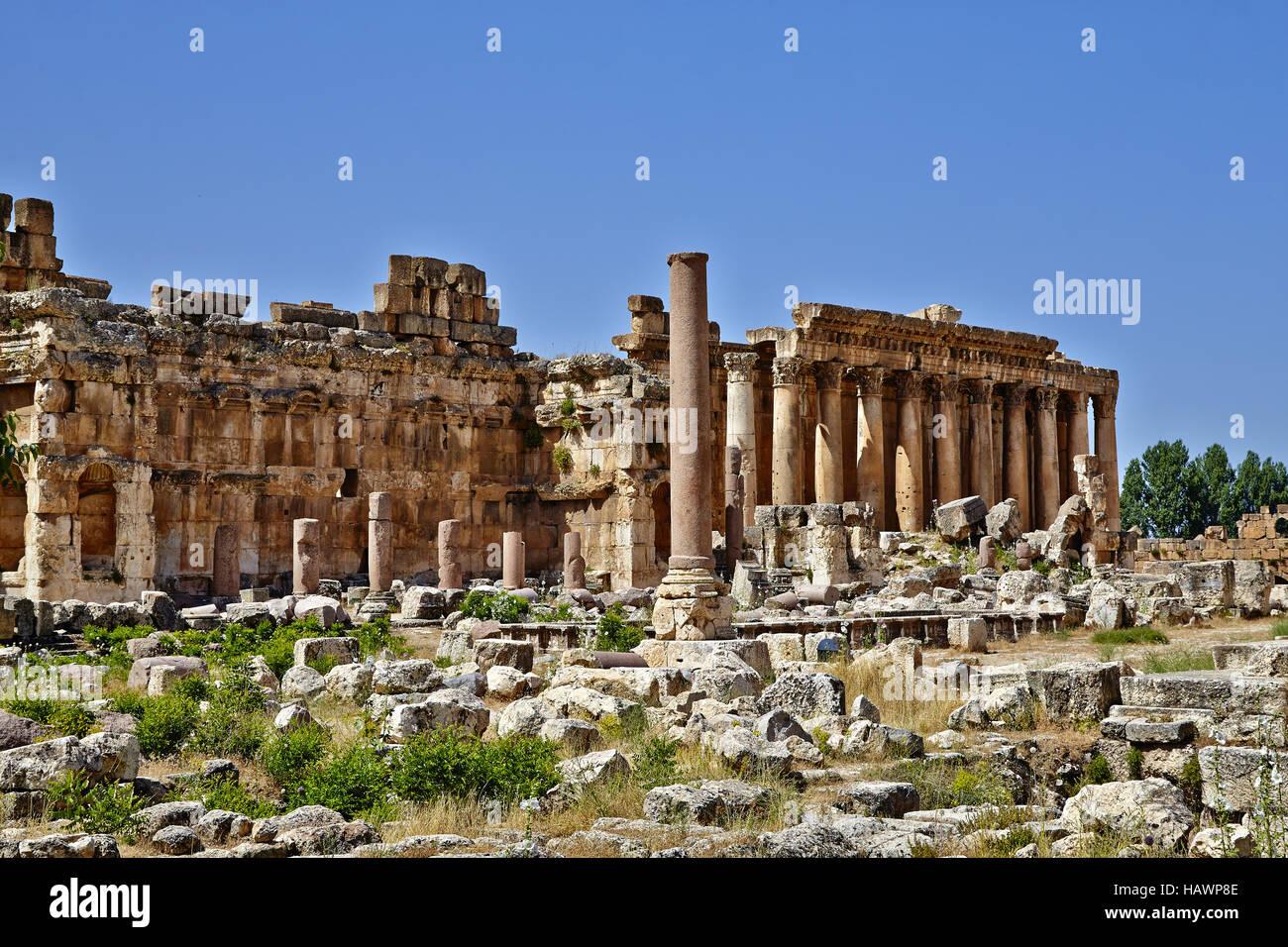 Temple of Bacchus - Baalbek, Lebanon - Stock Image