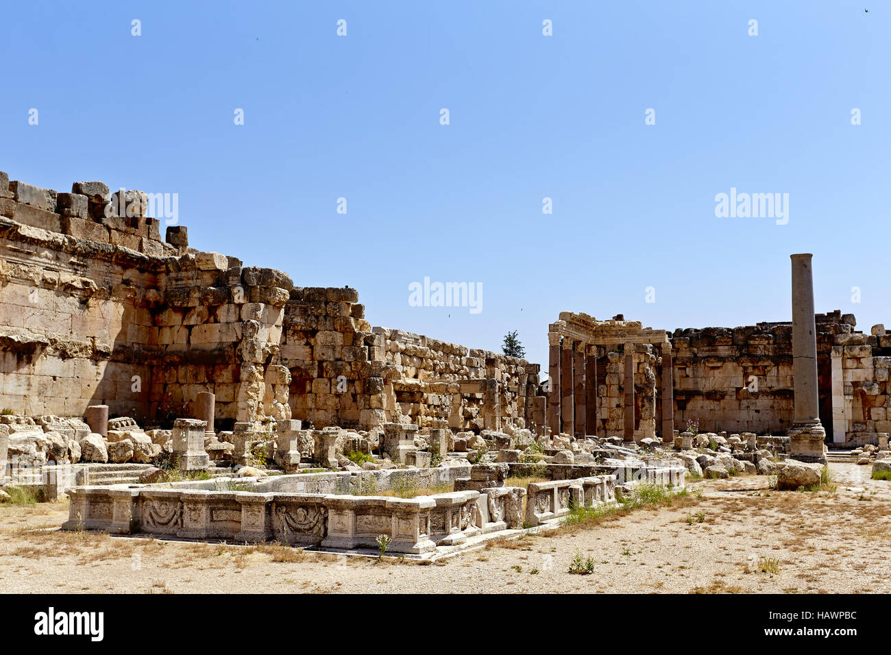Great Court  - Baalbek, Lebanon - Stock Image