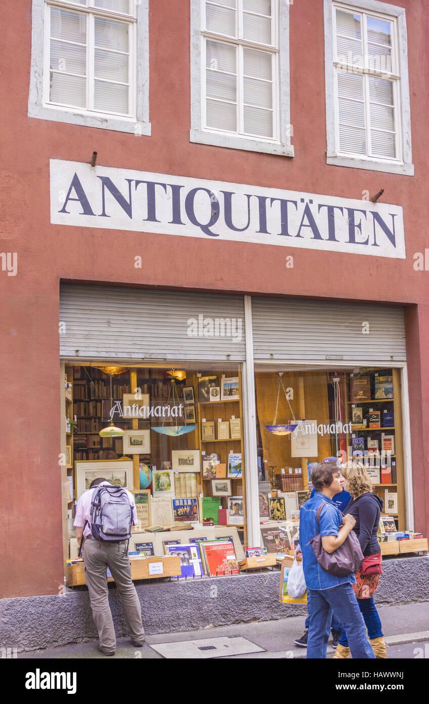 antiquarian bookseller, heidelberg - Stock Image