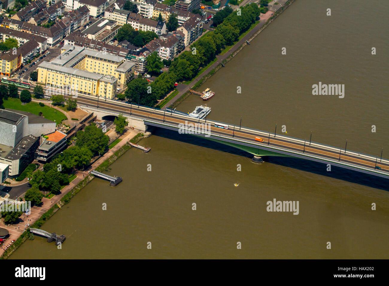 Kennedy Bridge Bonn - Stock Image