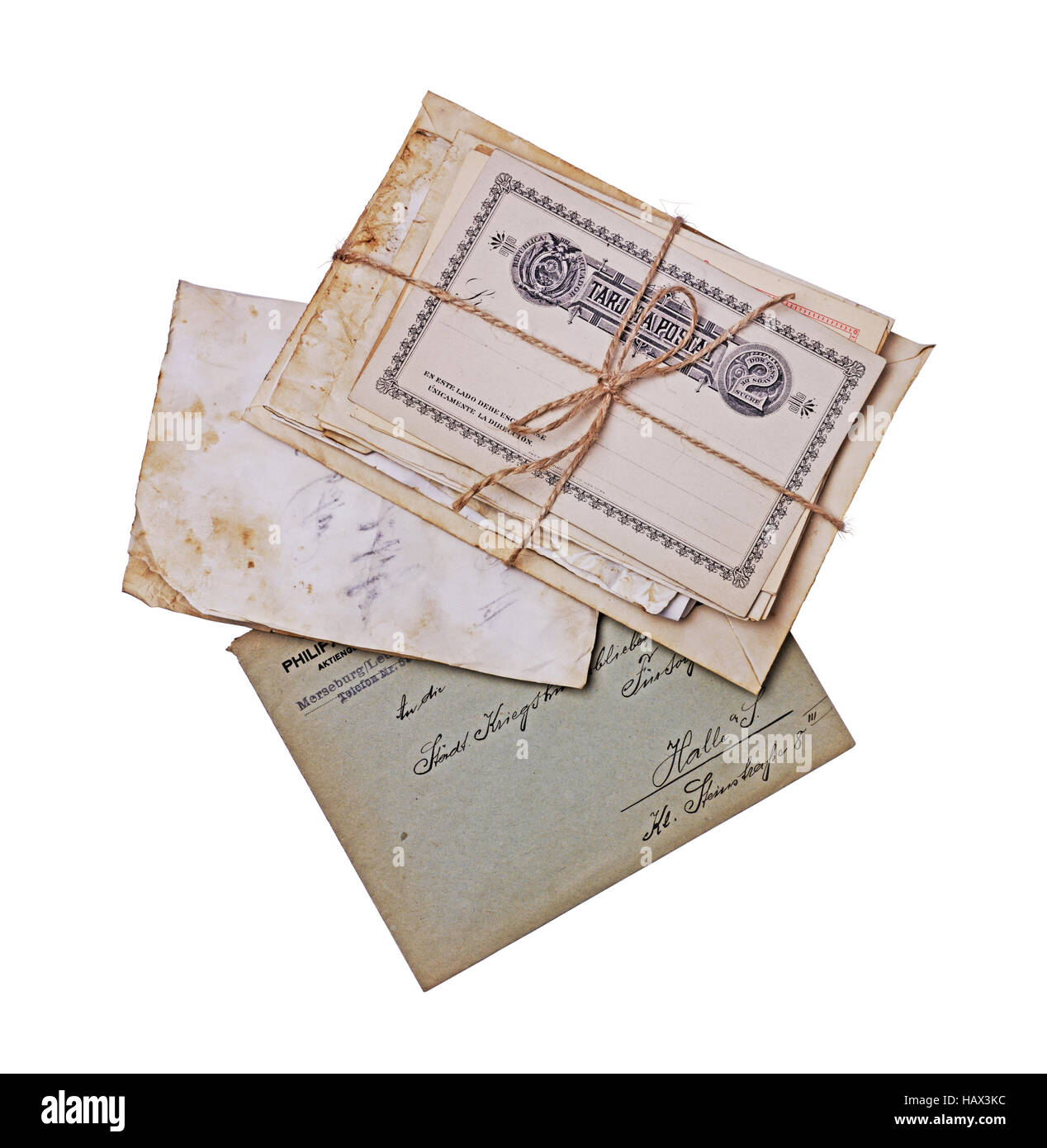 Vintage correspondence old postcards letters and envelopes vintage correspondence old postcards letters and envelopes isolated on white background thecheapjerseys Images