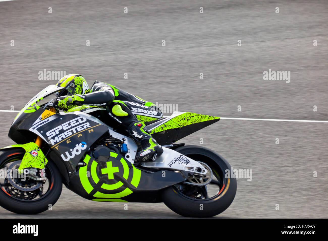 Andrea Iannone pilot of Moto2 in the MotoGP - Stock Image