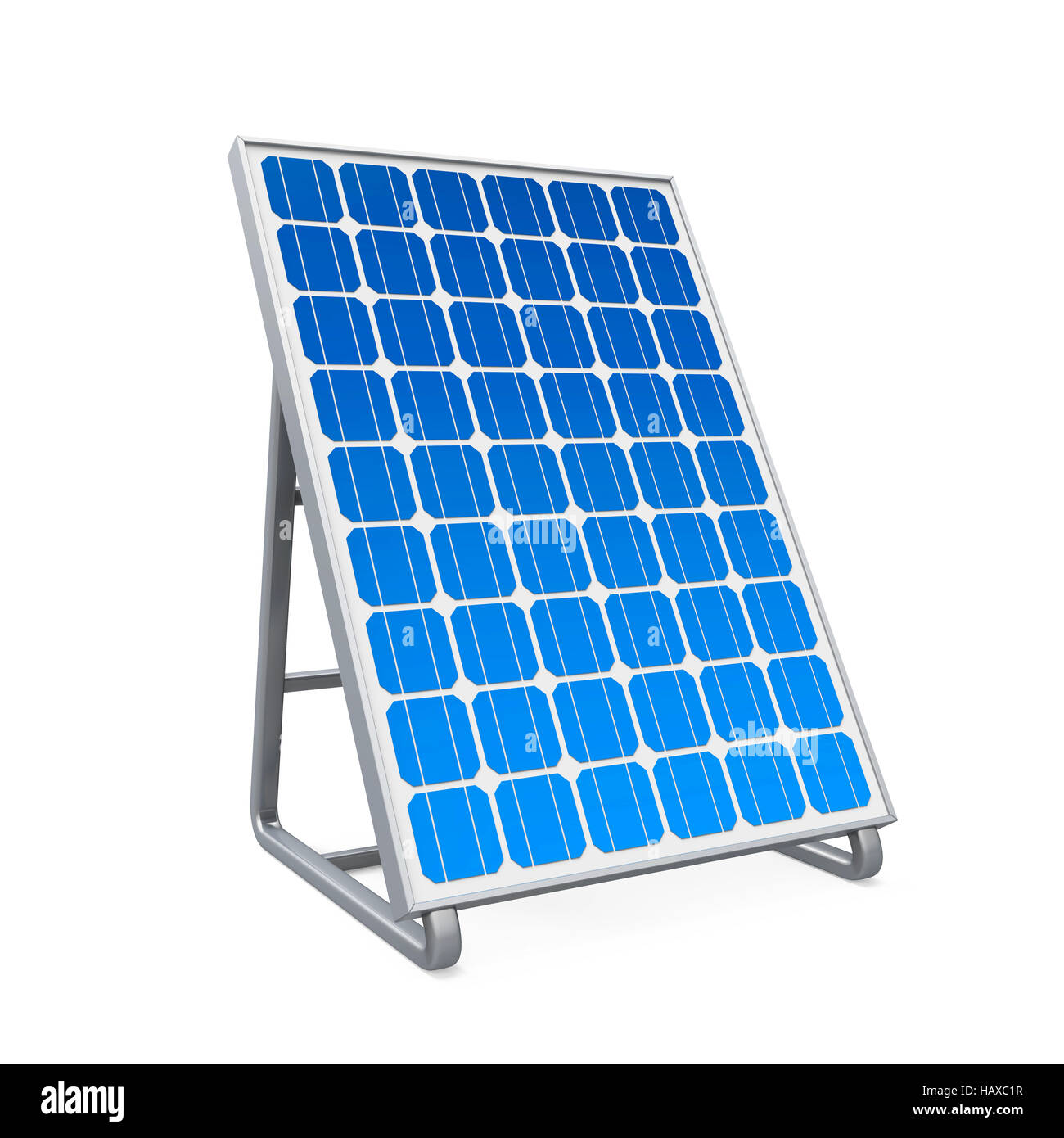 Solar Panel Isolated - Stock Image