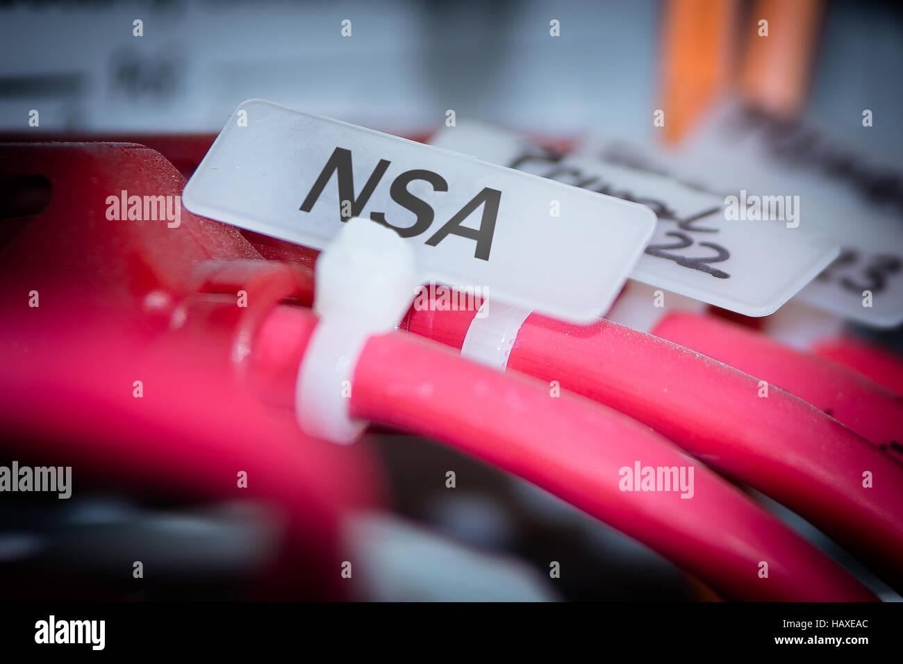 NSA - Secret Service - Stock Image