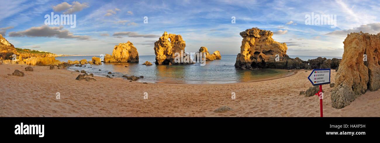 Beach in Algarve, Portugal Stock Photo