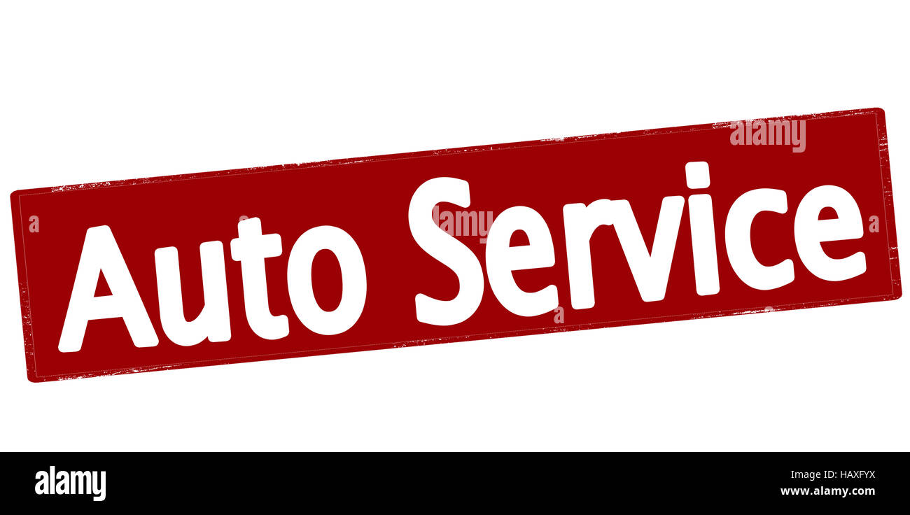 Rubber stamp with text auto service inside, vector illustration Stock Photo
