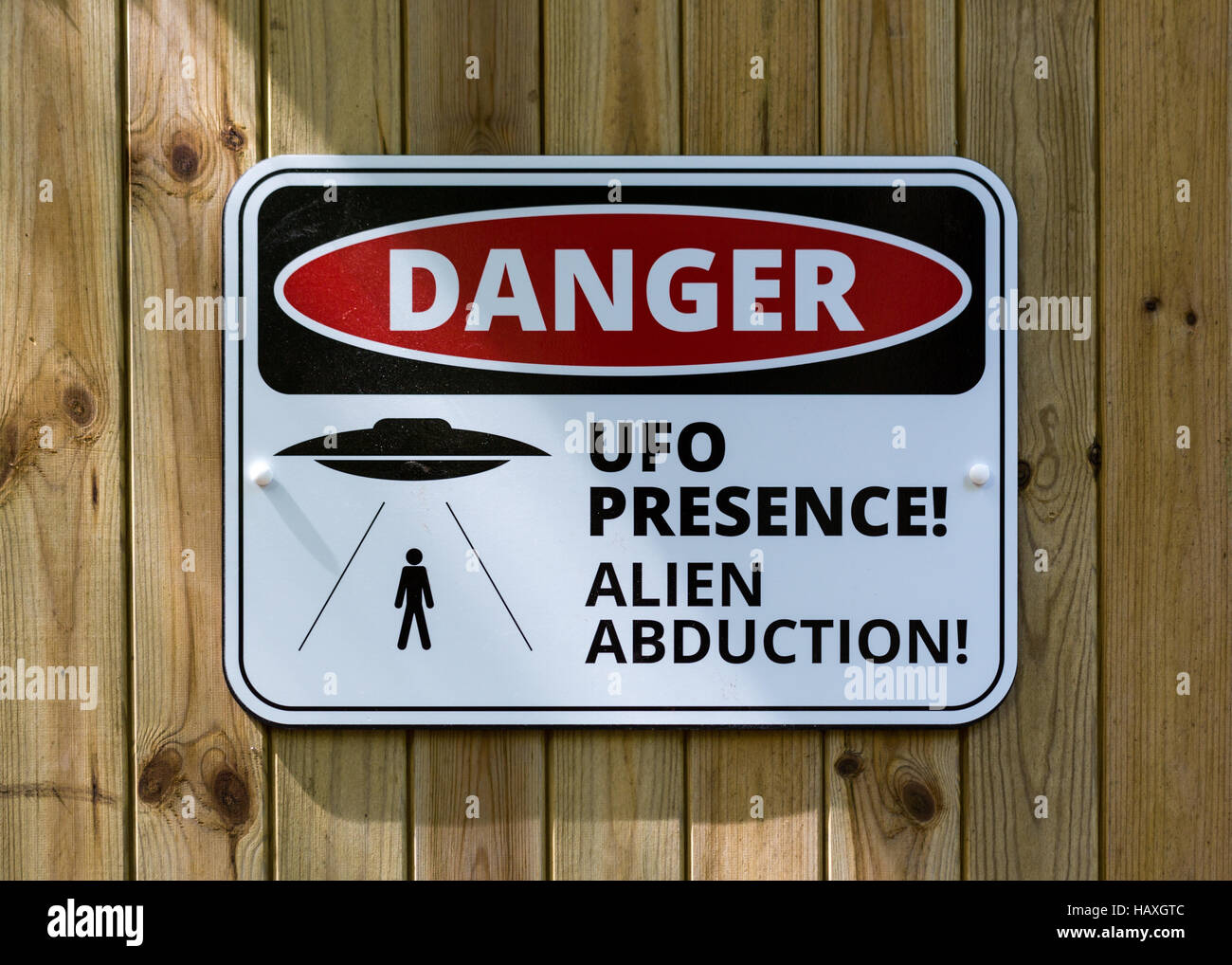 UFO Sign - Stock Image