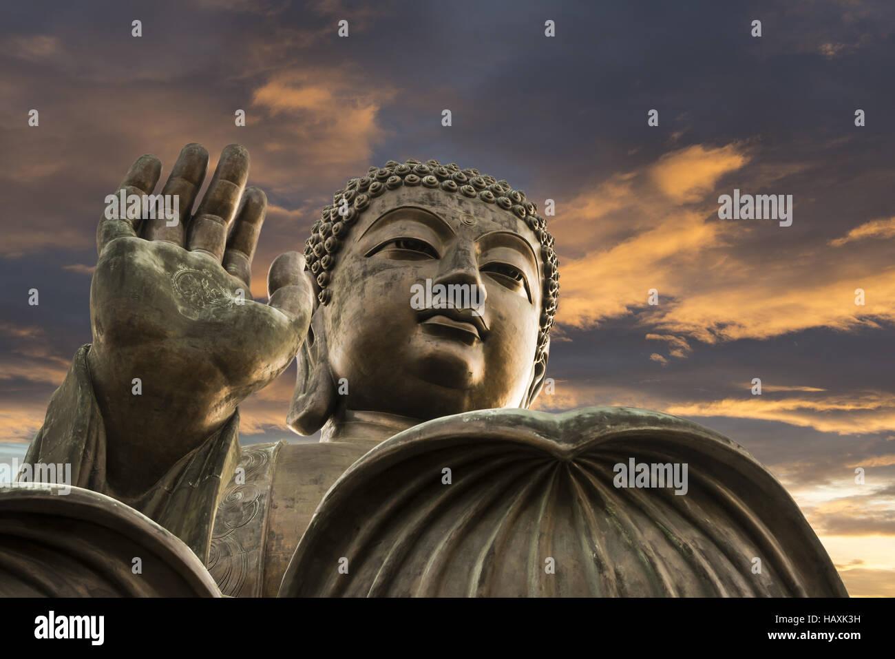 Tian Tan Buddha statue - Stock Image