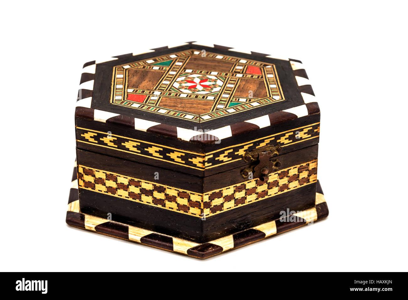 Vintage jewel box - Stock Image