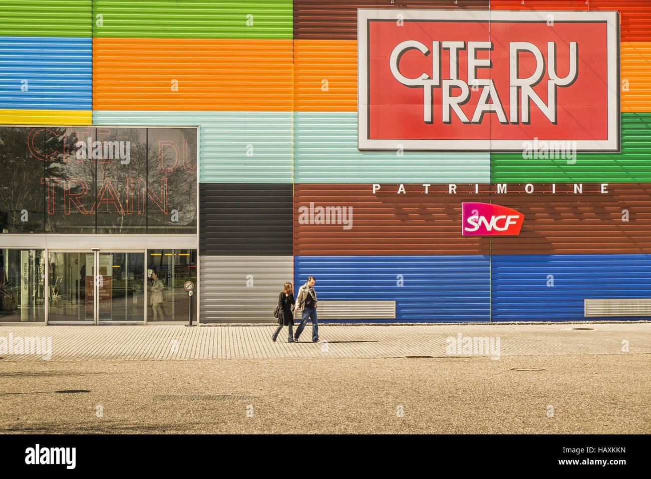 _cite du train_ railroad museum - Stock Image