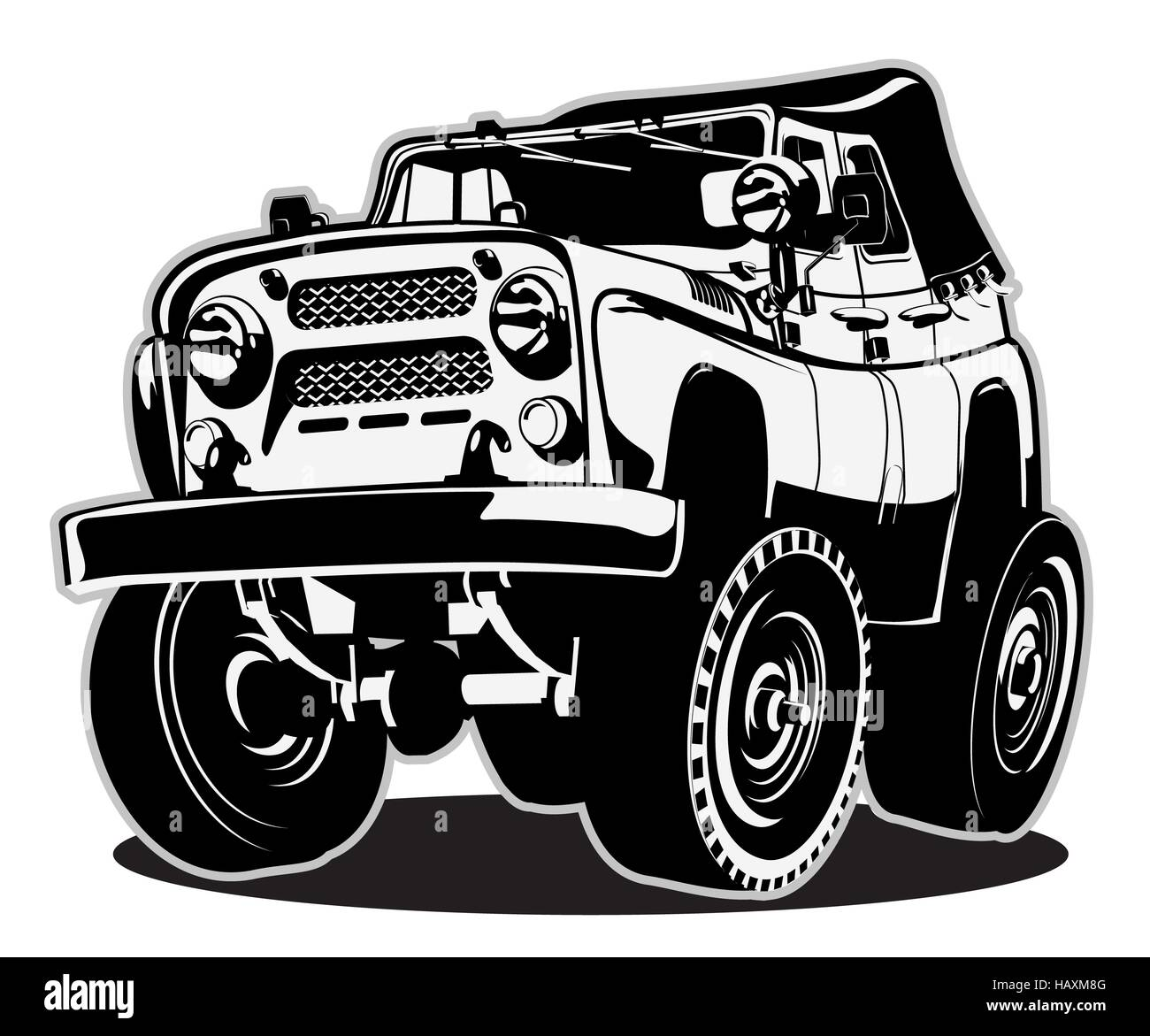 Cartoon Jeep Safari Stock Photos & Cartoon Jeep Safari
