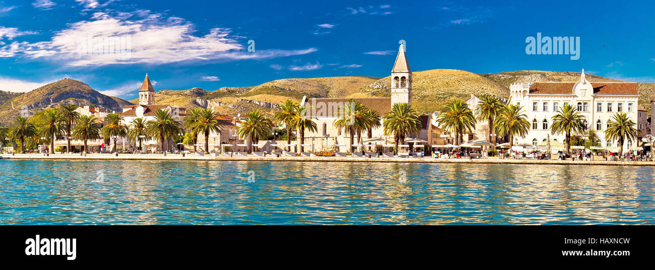 Trogir UNESCO world heritage site panoramic view in Dalmatia, Croatia - Stock Image