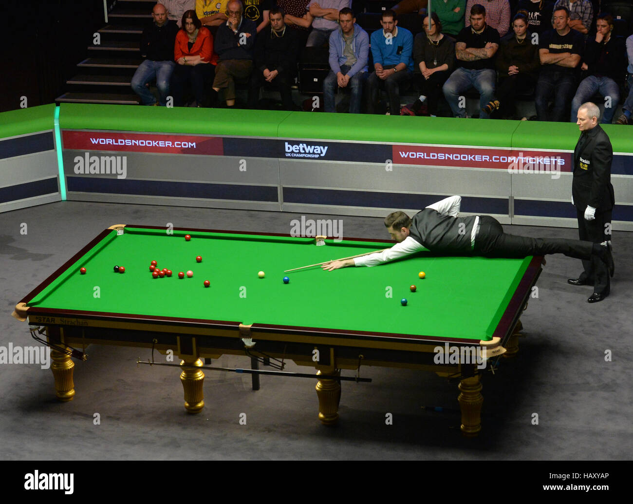 Mark Selby at the table in his semi final match against