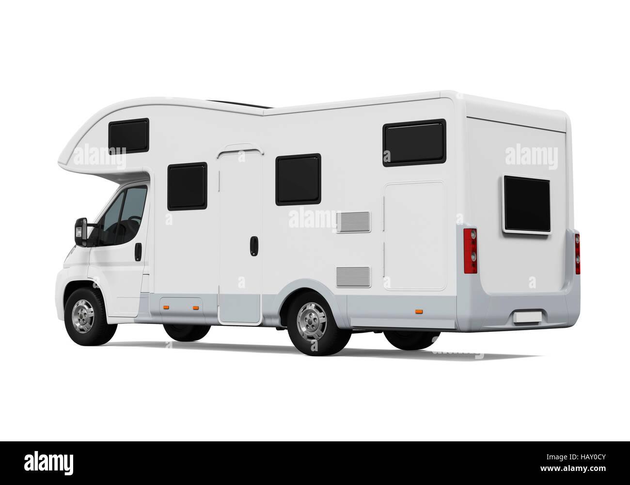RV Caravan Isolated - Stock Image