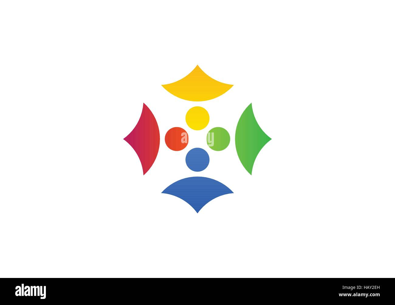 team work logo, global team people connection symbol design ...