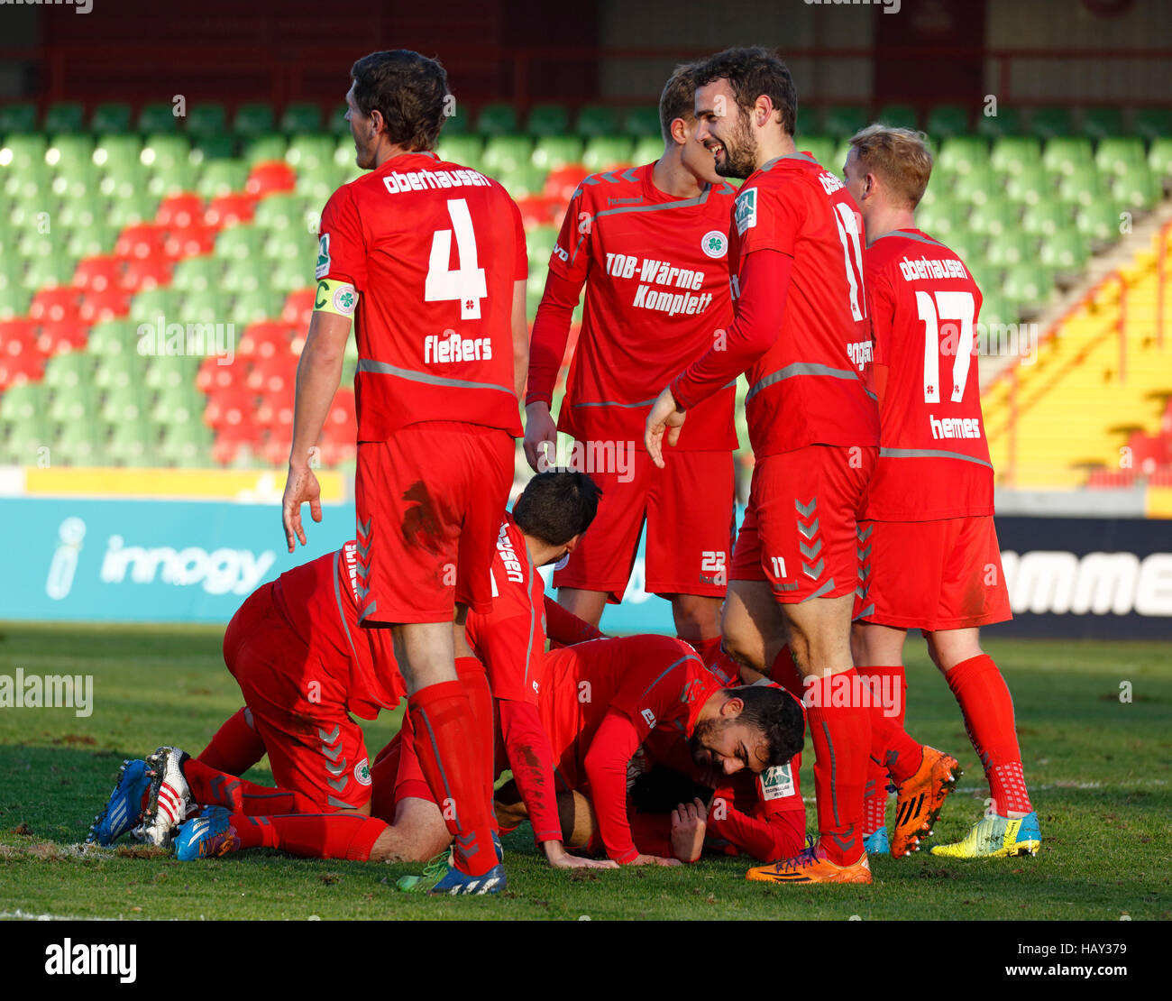 sports, football, Regional League West, 2016/2017, Rot Weiss Oberhausen vs SC Verl 7:1, Stadium Niederrhein in Oberhausen, - Stock Image
