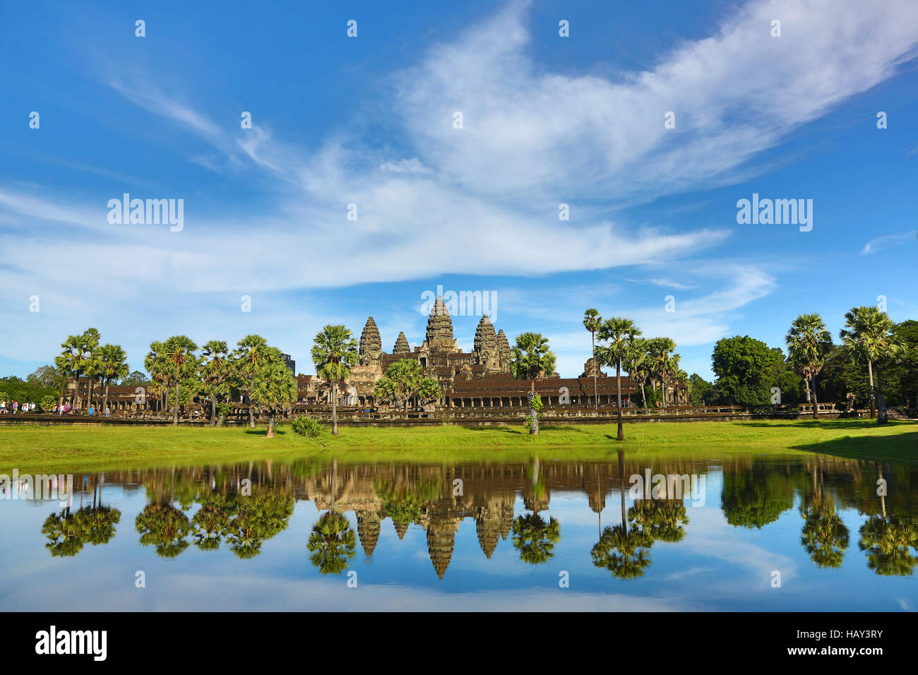 Angkor Wat Temple in Siem Reap, Cambodia - Stock Image