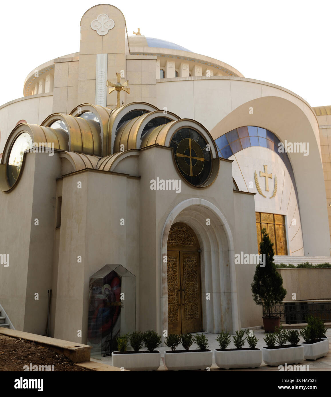 The Resurrection of Christ Orthodox Cathedral of Tirana. - Stock Image