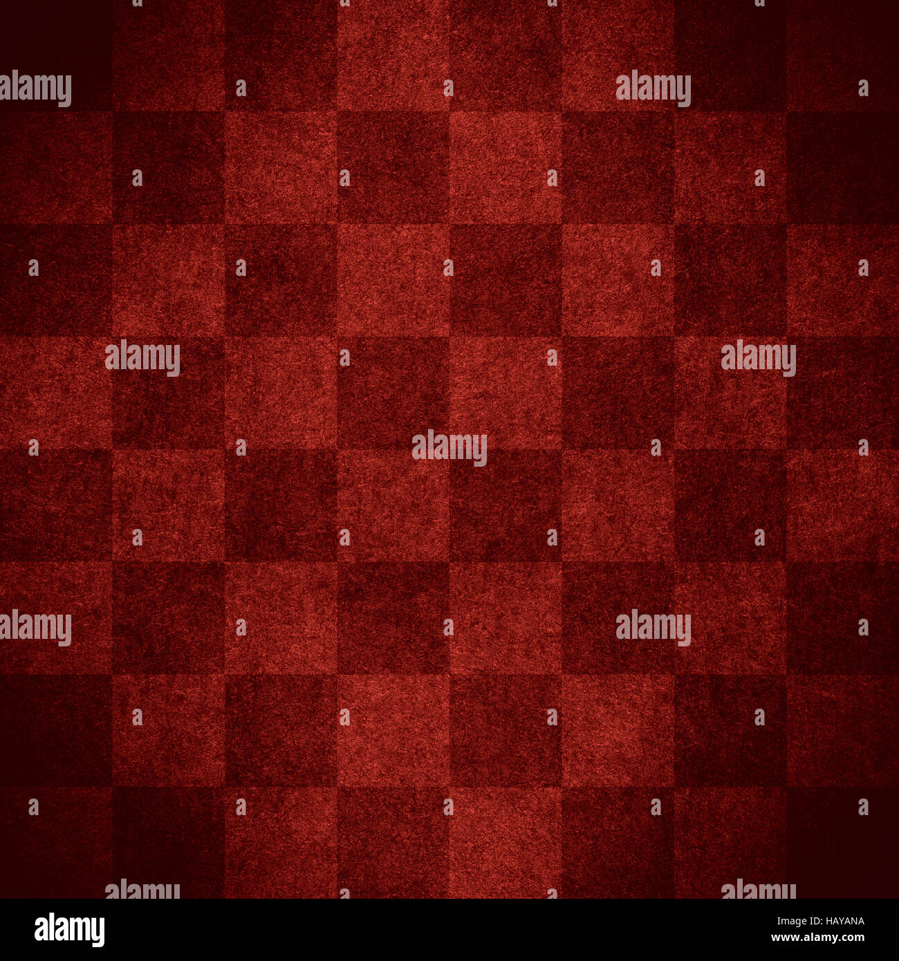 chequered pattern texture or red chessboard background, check - Stock Image
