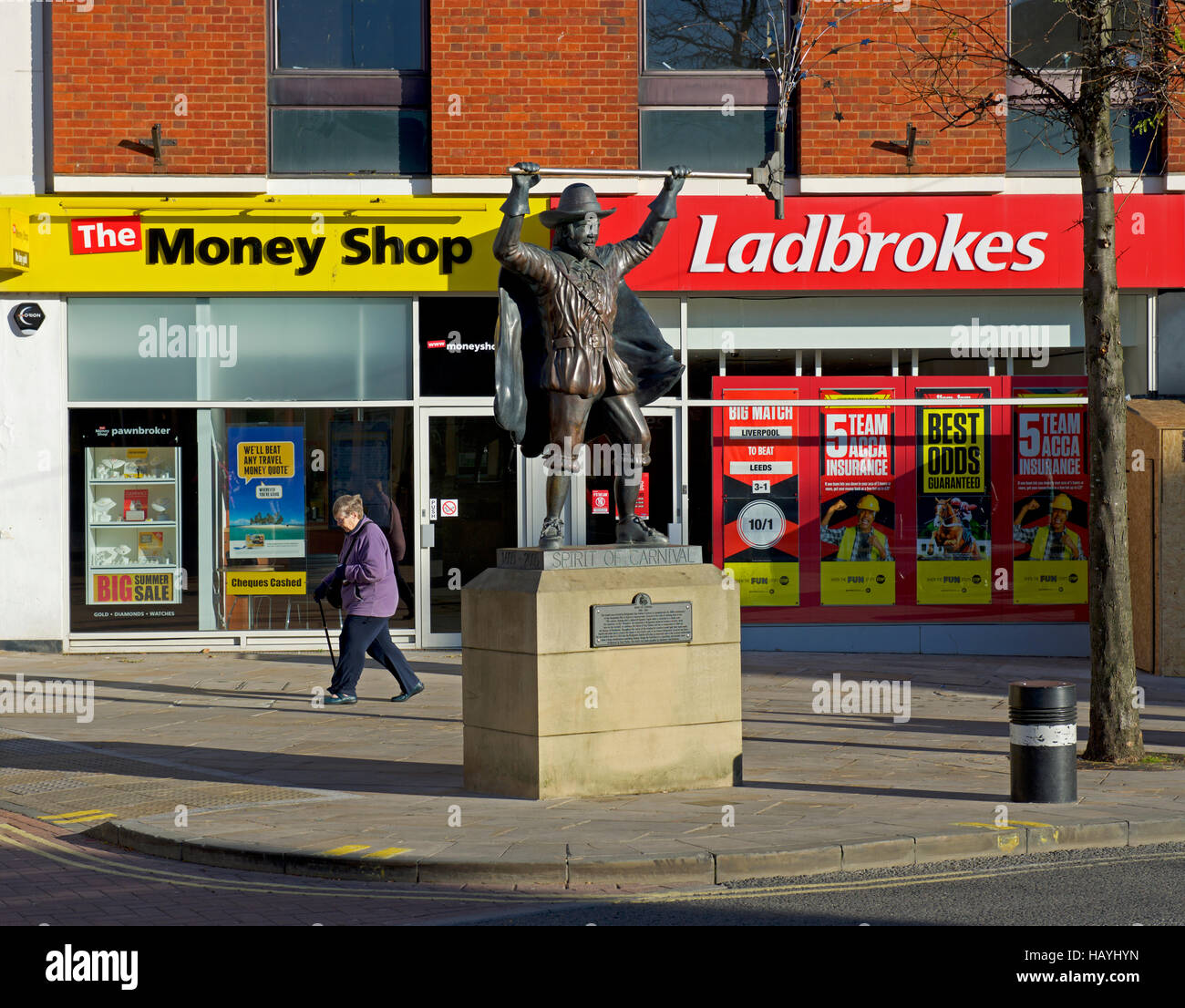 Spirit of Carnival statue in Bridgewater, Somerset, England UK Stock Photo