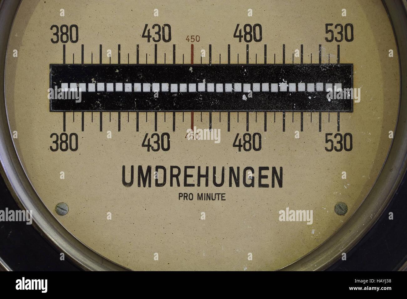 speedometer - rpm - Stock Image