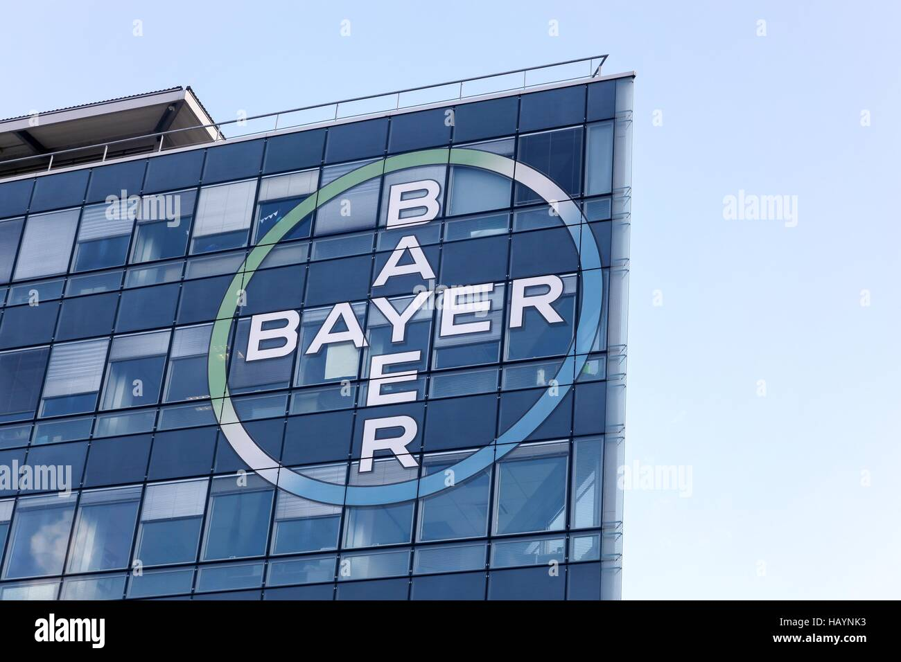 Bayer building and office - Stock Image