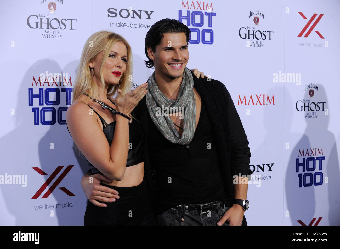 Elena Samadanova and Gleb Savchenko attend the Maxim 2013 Hot 100 Annual Party held at Vanguard on May 15, 2013 - Stock Image
