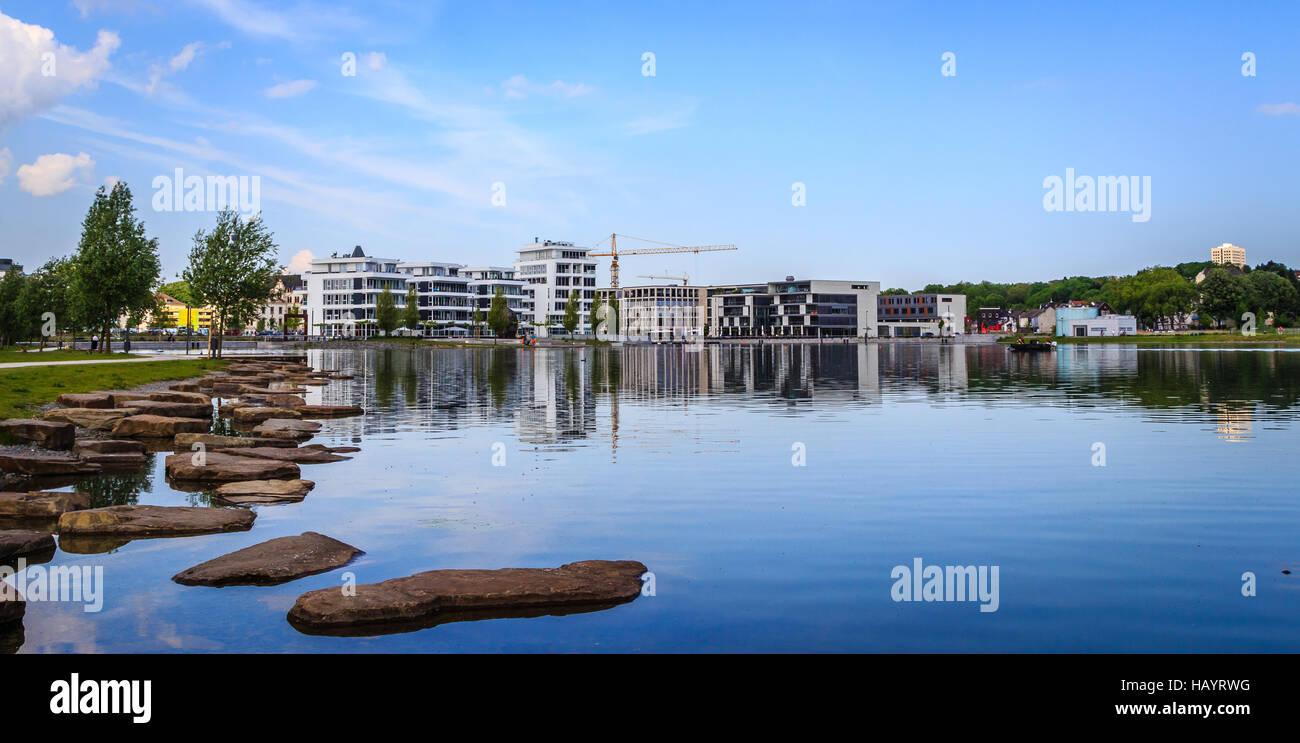 Lake Phoenix in Dortmund Stock Photo