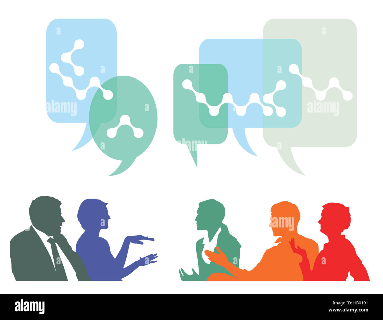 People discuss and exchange ideas - Stock Image