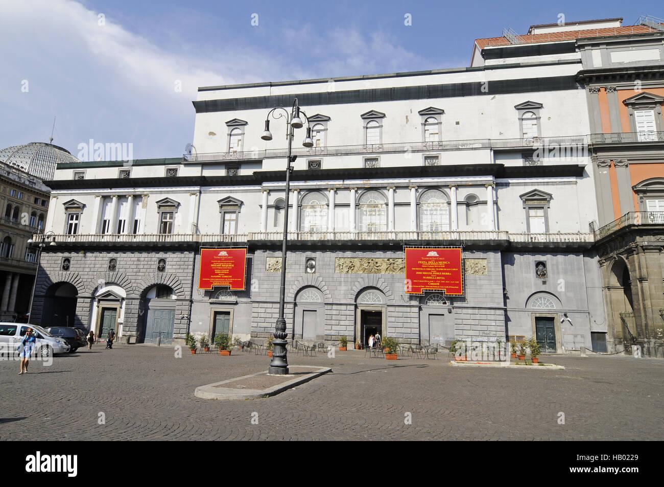 San Marco theatre, Naples, Campania, Italy - Stock Image