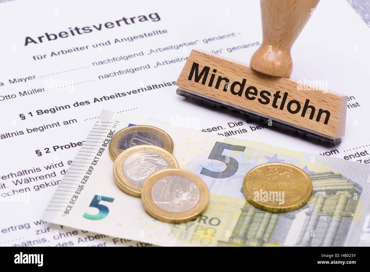 8,50 Euro minimum wages in Germany Stock Photo