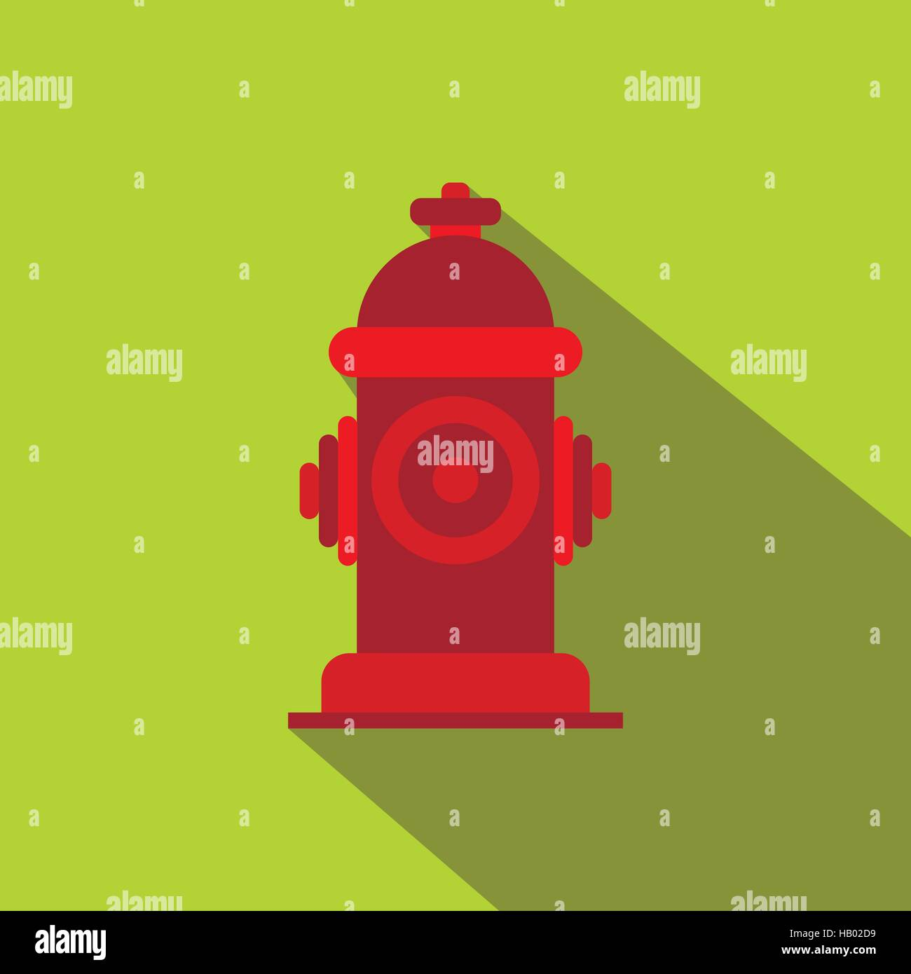 Fire hydrant flat icon - Stock Image