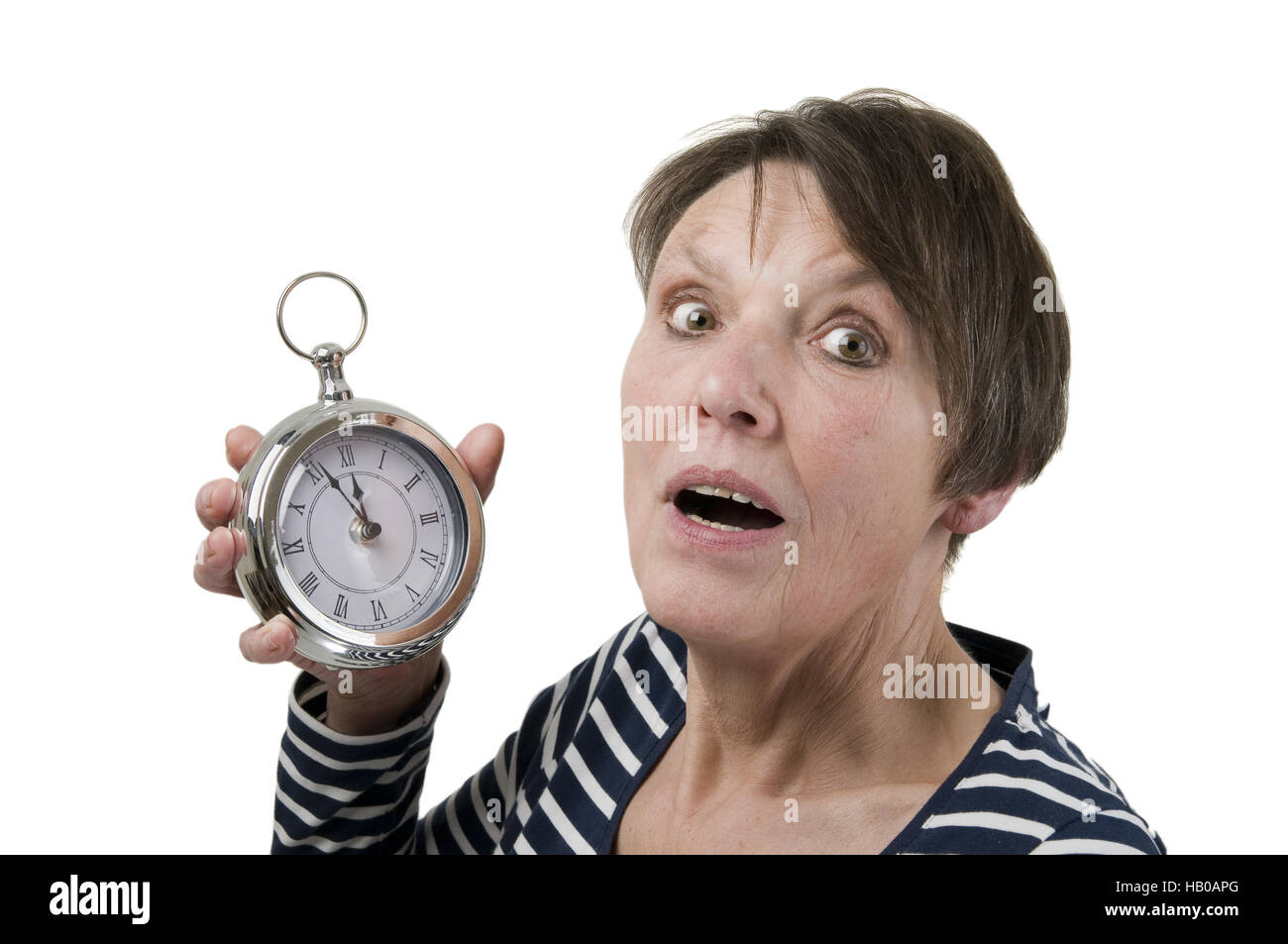 Fright with clock - Stock Image