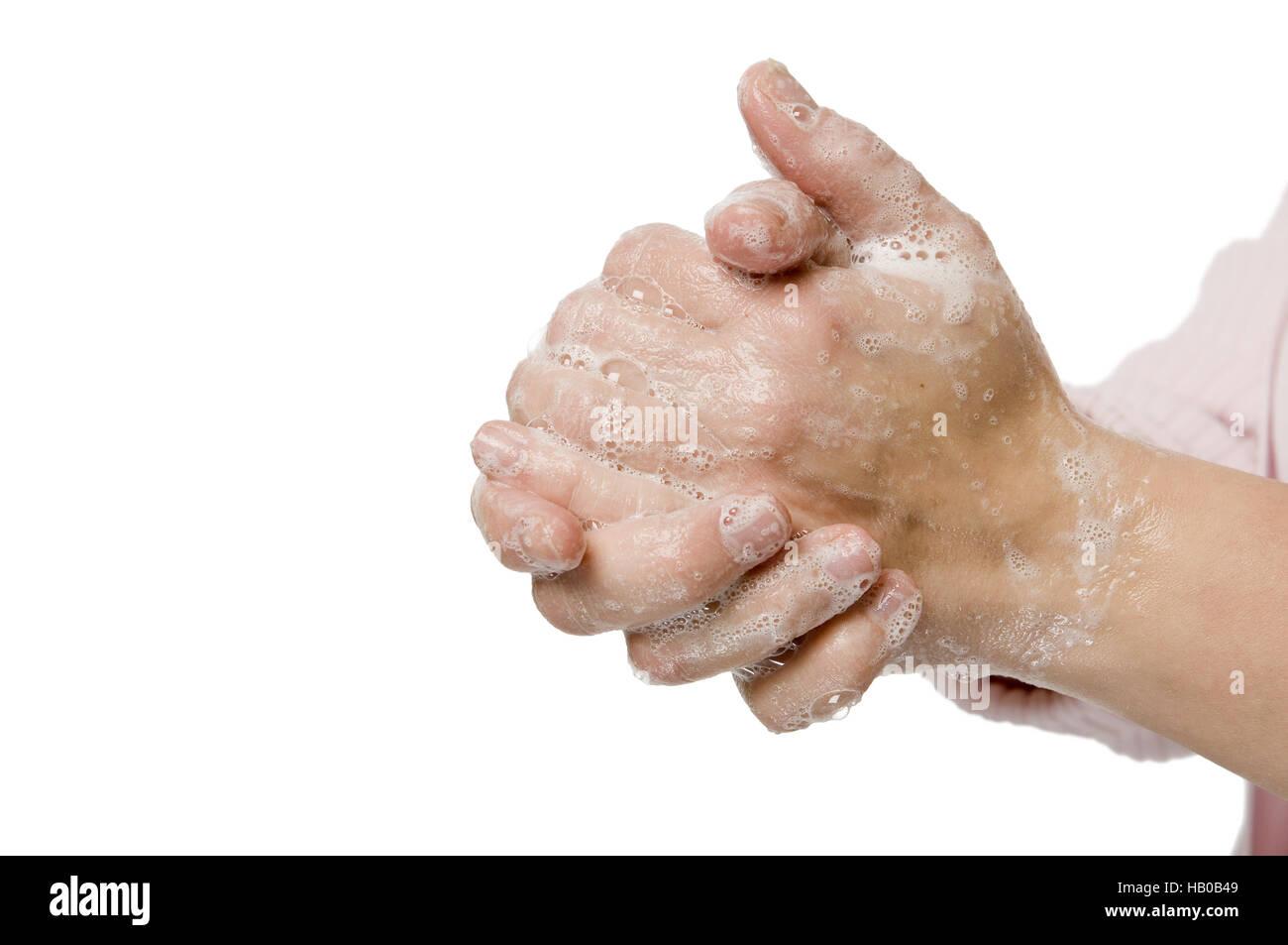 hand washing - Stock Image