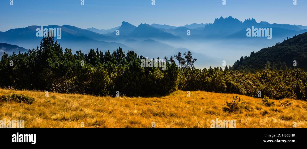 Nebel im Groednertal - Stock Image