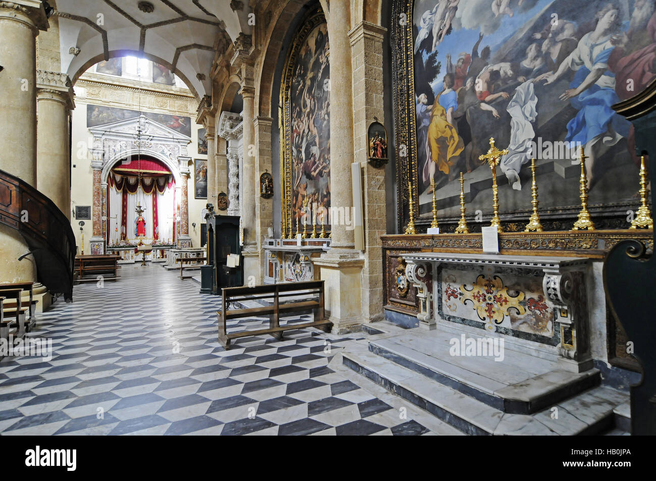 Sant Agata, cathedral, Gallipoli, Italy - Stock Image