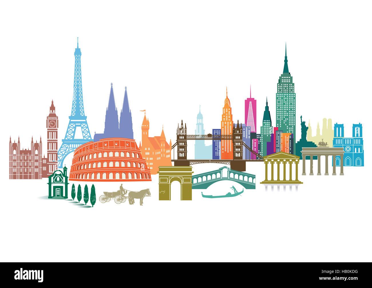 Travel Landmark - Stock Image