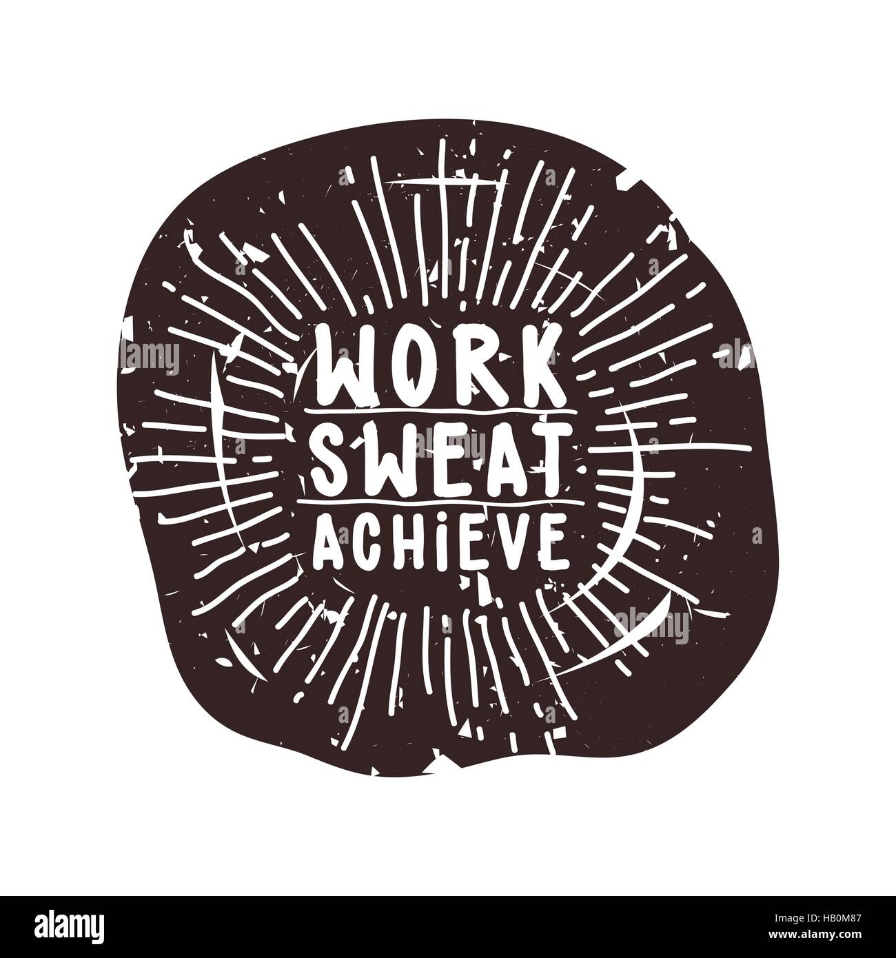 Work sweat achieve - Stock Vector