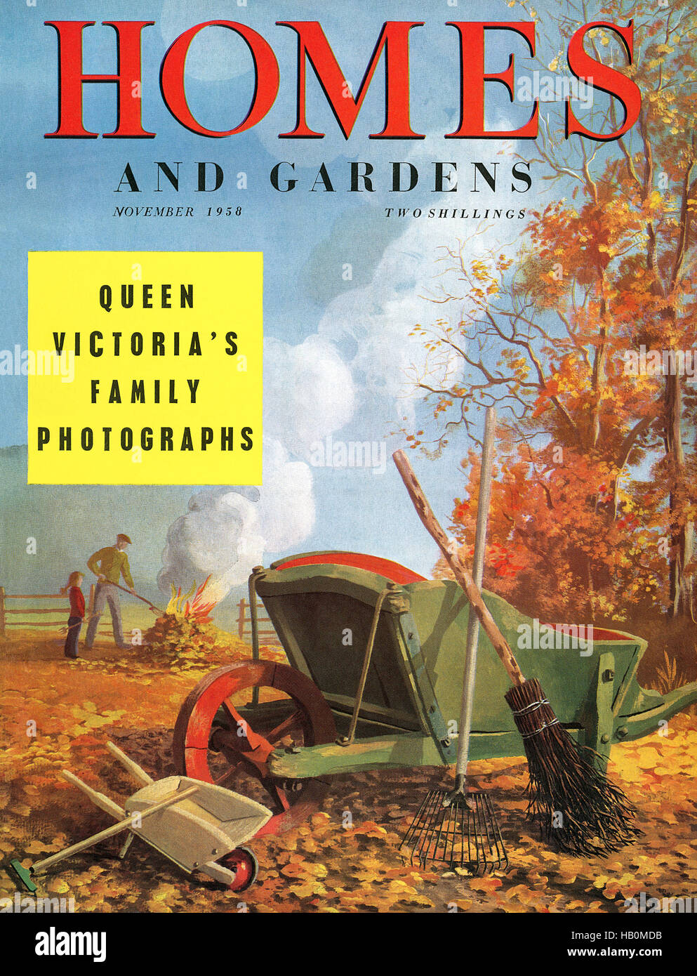 Front cover of Homes And Gardens magazine for November 1958 - Stock Image