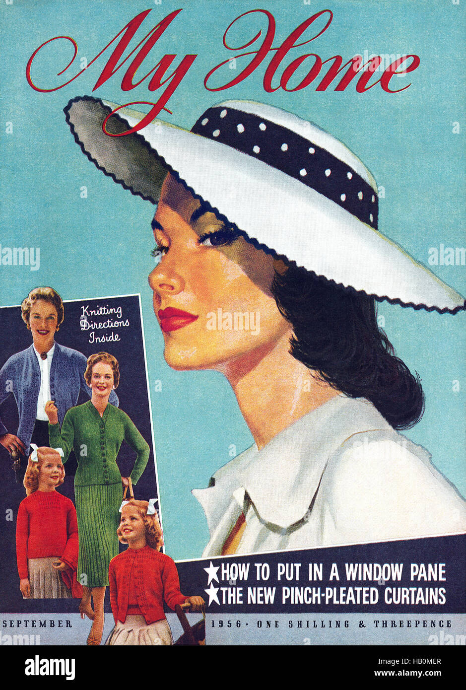 Front cover of My Home magazine for September 1956 - Stock Image