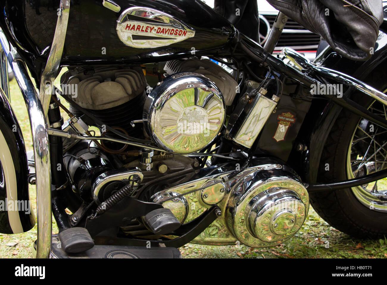 Harley Davidson Oldtimer - Stock Image