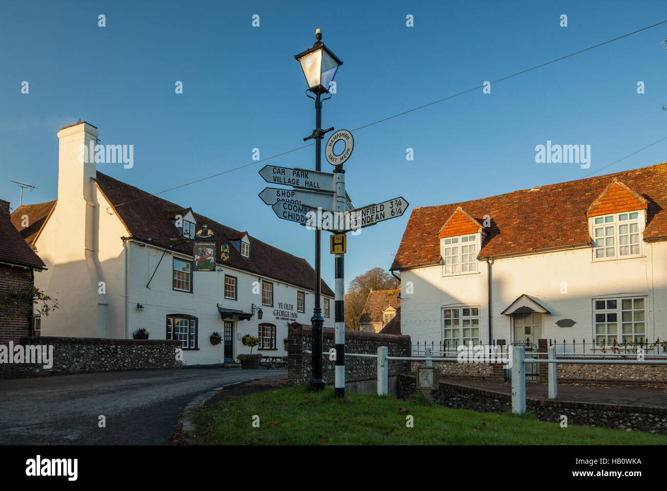 Autumn afternoon in East Meon, Hampshire, England. - Stock Image