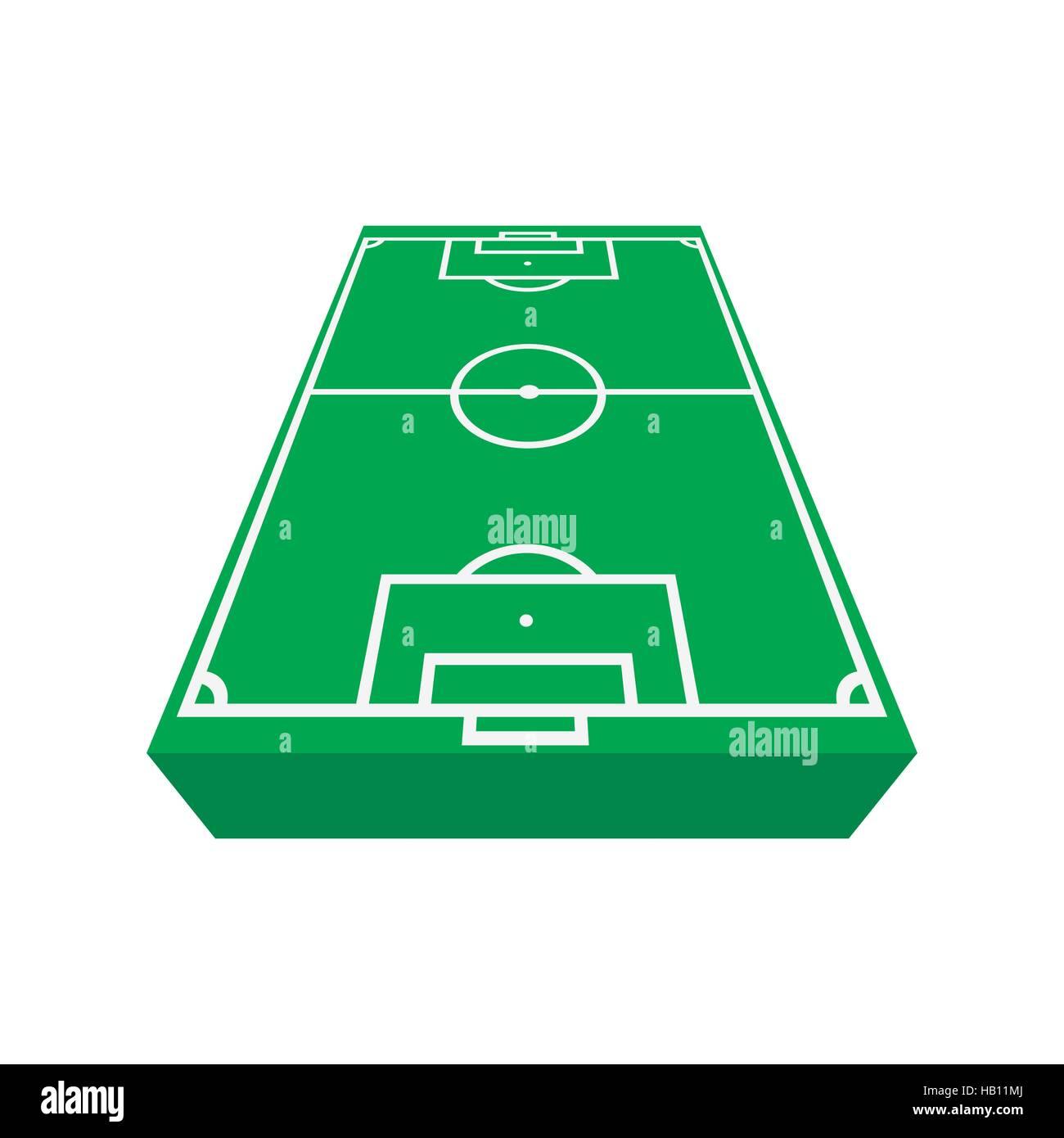 Football Field Cartoon Icon Stock Vector Art Illustration Vector