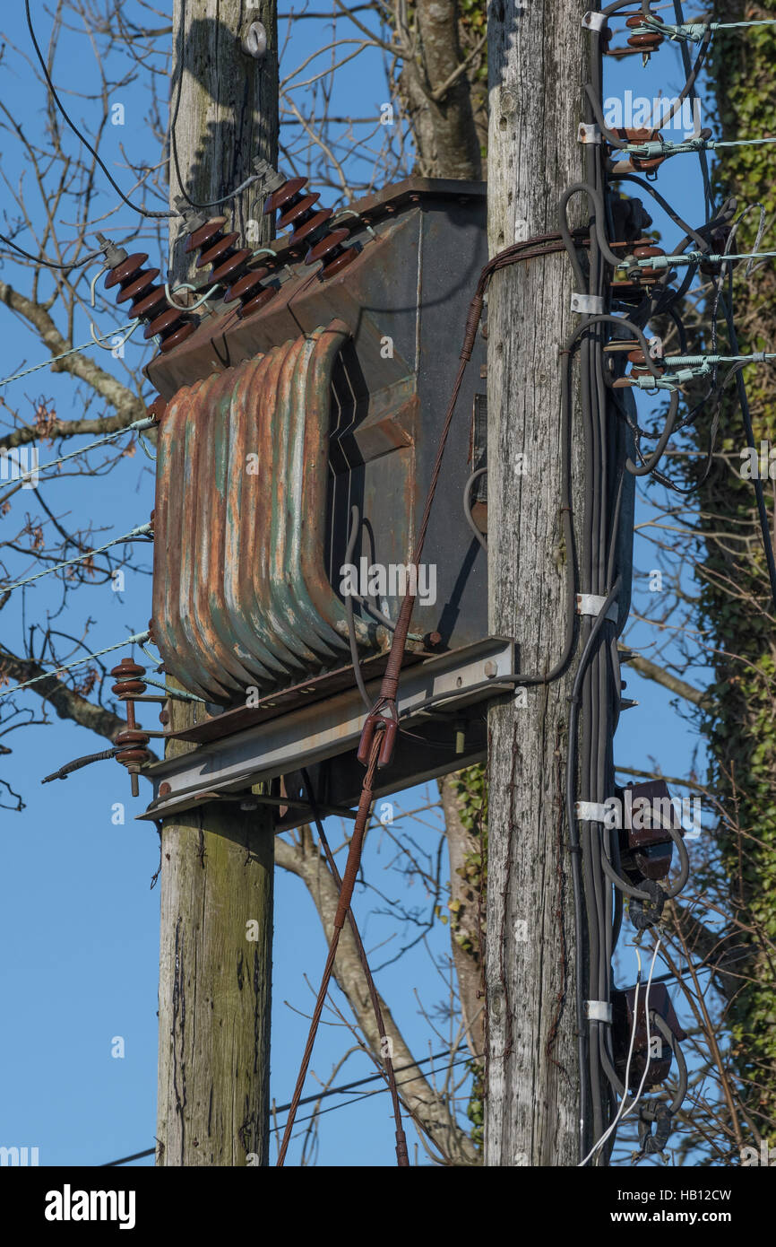 Transformer Wiring Stock Photos Images A Rural Power Distribution Electrical Image